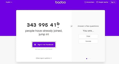 Badoo dating app