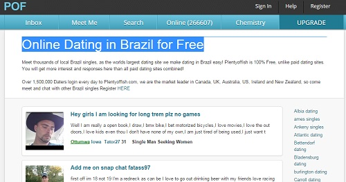 brazil match dating site Meet thousands of local brazil singles, as the worlds largest dating site we make dating in brazil easy plentyoffish is 100% free, unlike paid dating sites.