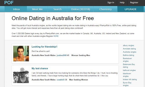 Dating sites like okcupid and plenty of fish in Sydney