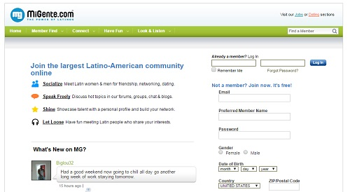Latino online dating penny