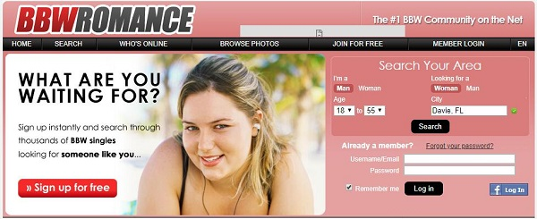 bbw romance dating site