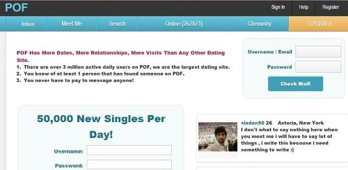 pof dating site