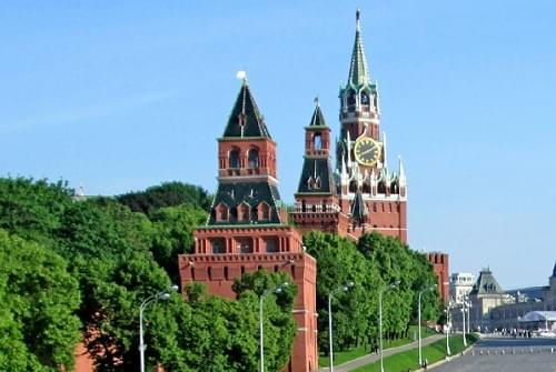 The famous Kremlin in the capital of Russia